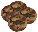 Trout Coasters (4 pc set)