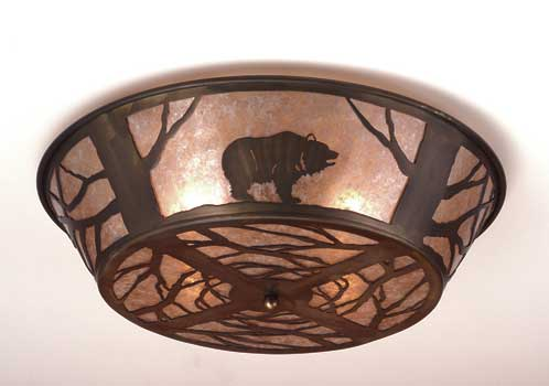 Grizzly Bear Flushmount Ceiling Fixture