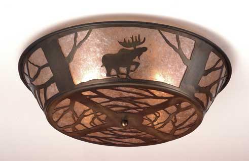 Moose Flushmount Ceiling Fixture