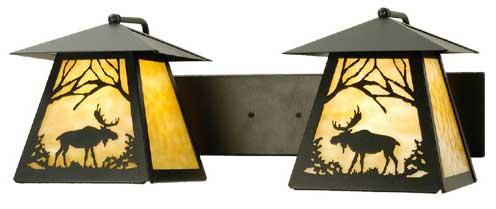 Moose Lantern 2 Light Vanity