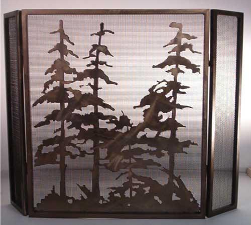 Folding Trees Firescreen