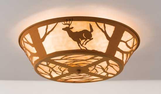 Deer Flushmount Light