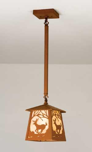 Single Deer Pendant Light