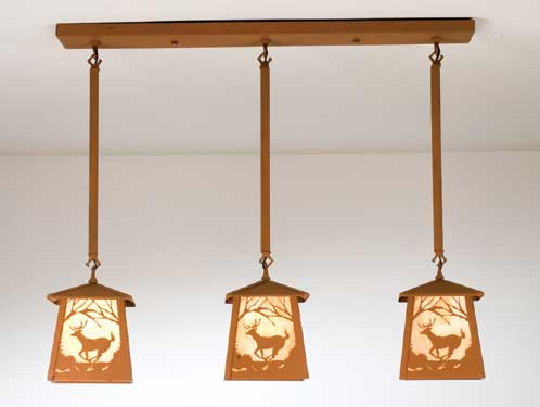 Triple Deer  Pendant Light
