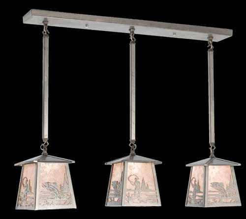 Triple Fisherman Pendant Light