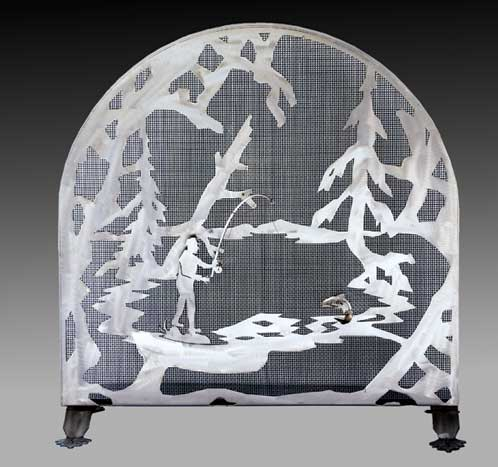 Arched Fisherman Firescreen