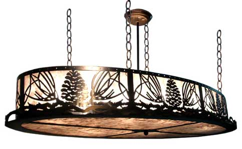Pinecone Oval Inverted Pendant Light