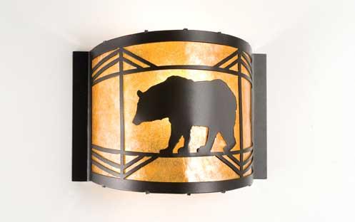 Black Bear Wall Sconce