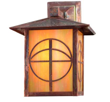 Circle Cross Outdoor Wall Sconce