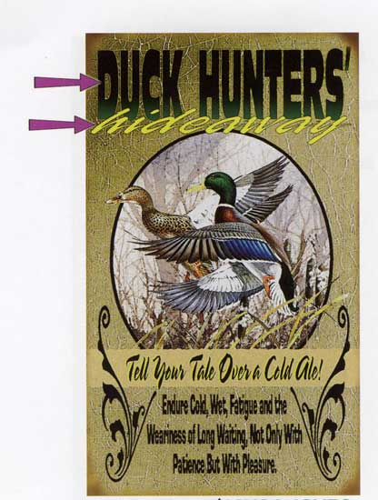 Custom Duck Hunting Sign