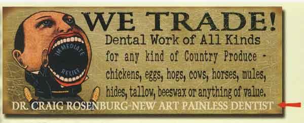 Custom Dental Work Sign