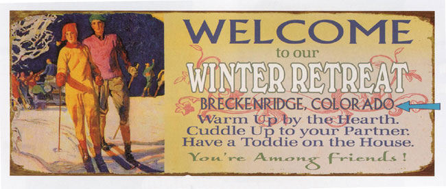 Custom Winter Retreat Sign