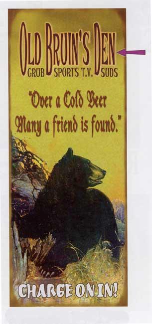 Custom Bear Sign