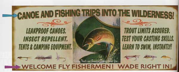 Custom Fly Fisherman Sign