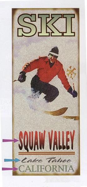 Custom Ski Sign