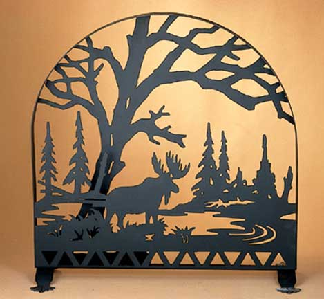 Moose Arched Firescreen