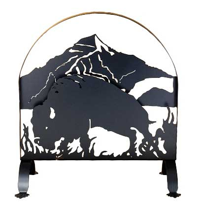 Buffalo Arched Fire Screen