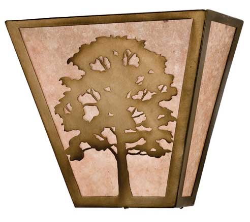 Oak Tree Wall Sconce