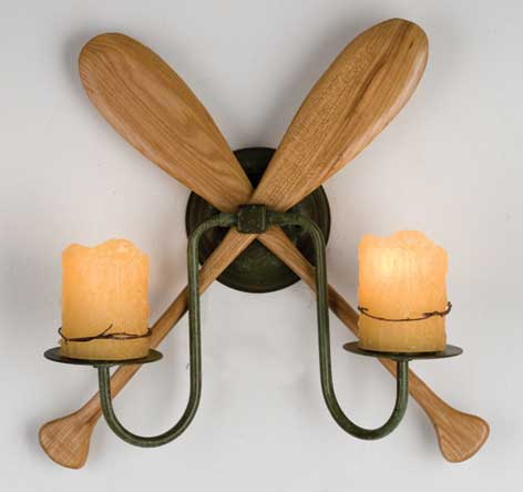 Paddle 2 Light Wall Sconce