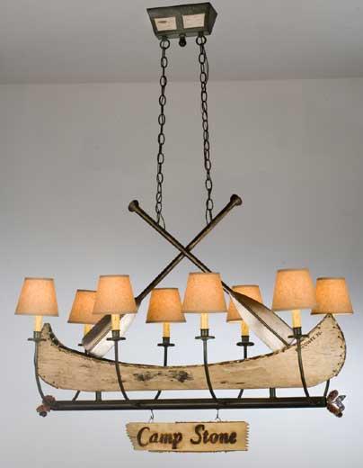 Canoe Chandelier