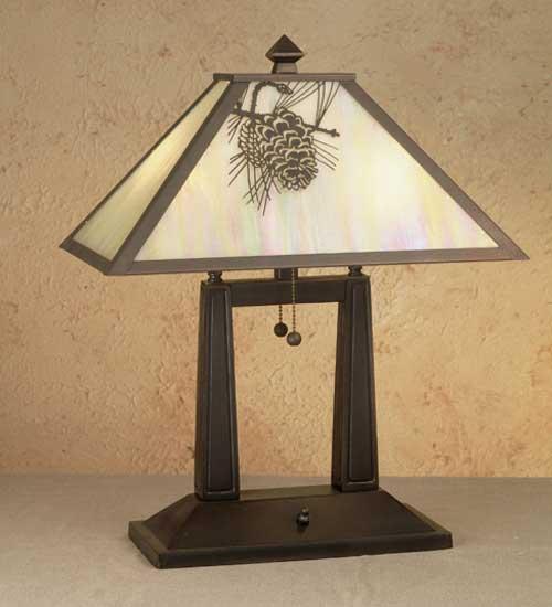 Oblong Pine Cone Desk Lamp