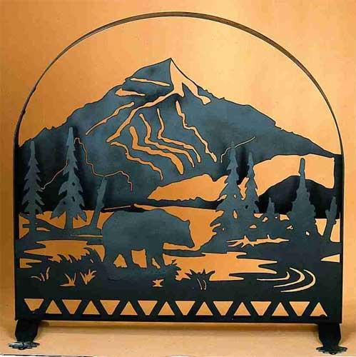 Bear Arched Firescreen