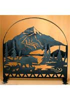 Bear Arched Firescreen