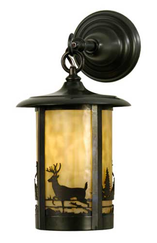Deer In The Woods Outdoor Wall Sconce