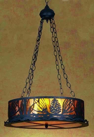 Pine Cone Inverted Pendant Light Fixture