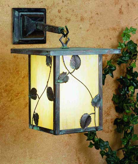 Vine Leaf Outdoor Wall Sconce