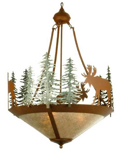 Strunk Moose/Trees Inverted Pendant