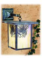 Pine Cone Outdoor Hanging Wall Sconce