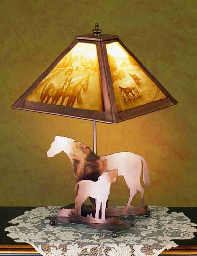 Mare And Foal Table Lamp