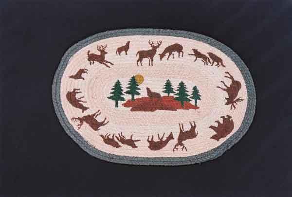 Hand Printed Coyote Rug