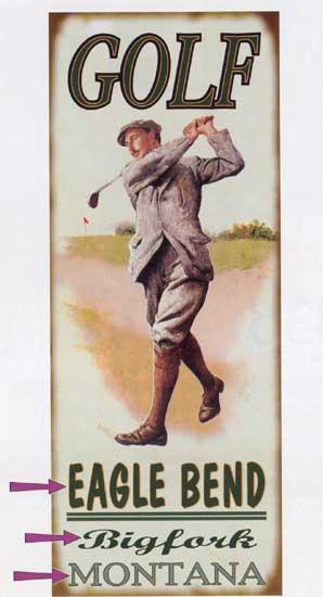 Custom Golf Sign