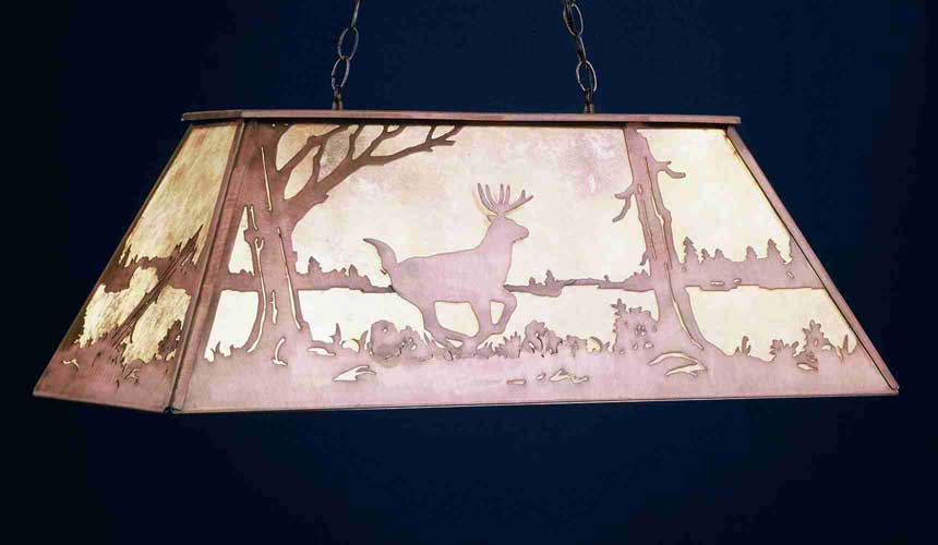 Deer Oblong Pendant
