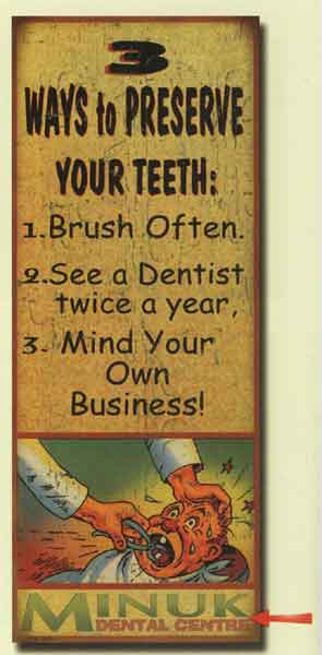 Custom Preserving Your Teeth Sign