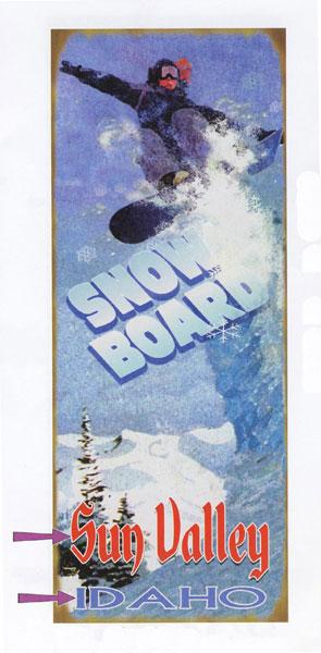 Custom Snow Board Sign