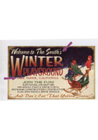 Custom Winter Playground Sign