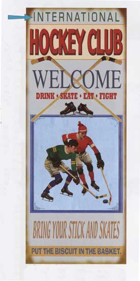 Custom Hockey Club Sign