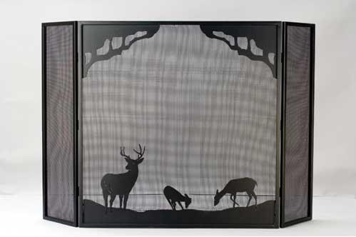 Deer Folding Fire Screen