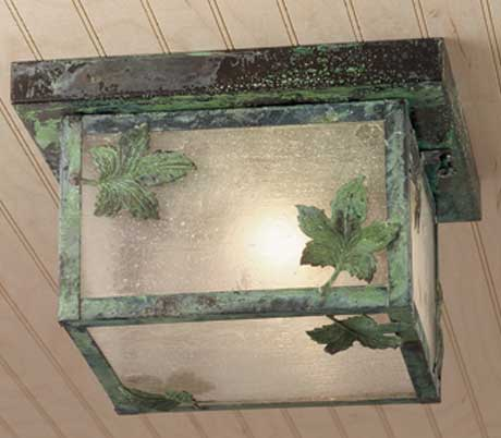 Maple Leaf Outdoor Flush Mount Fixture