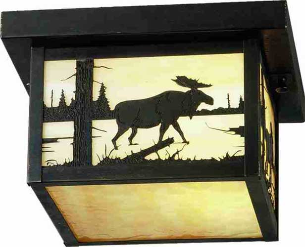 Moose Outdoor Flush Mount Ceiling Fixture