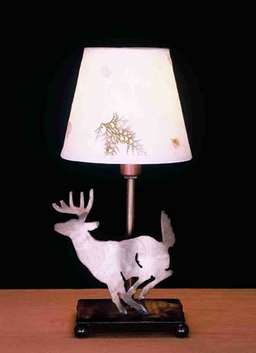 Deer With Foliage Paper Accent Lamp