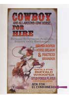 Custom Cowboy For Hire Sign