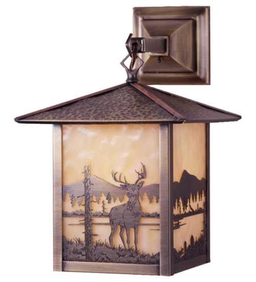 Seneca Deer Outdoor Hanging Wall Sconce