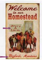 Custom Homestead Sign