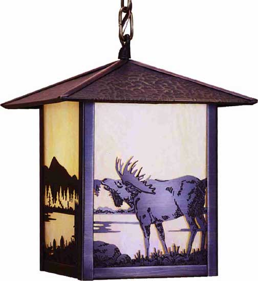 Moose Outdoor Ceiling Pendant Light Fixture