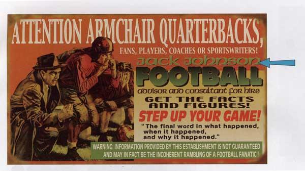 Custom Football Sign