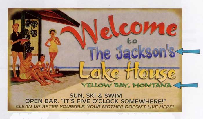 Custom Lake House Sign